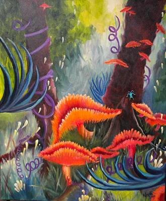 Painting - Enchanted Forest by Renate Nadi Wesley