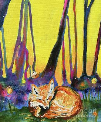 Painting - Enchanted Fox by Kim Heil