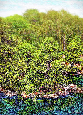 Digital Art - Enchanted Garden Morning by Joel Bruce Wallach