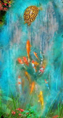 Koi Digital Art - Enchanted by Gina Signore