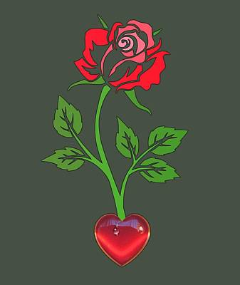 Digital Art - Enchanted Heart Blooms by Larisa Isaeva