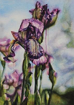 Painting - Enchanted Iris Garden by Tracy Male