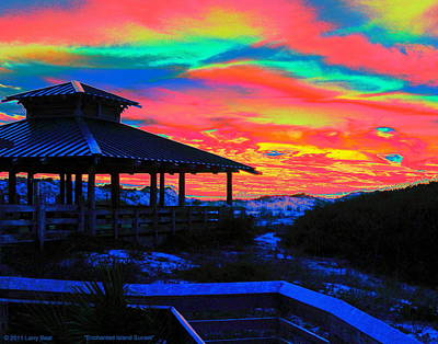 Digital Art - Enchanted Island Sunset by Larry Beat