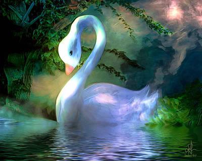Digital Art - Enchanted Lake by Pennie  McCracken