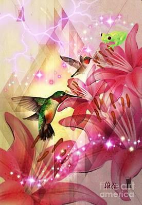Digital Art - Enchanted Lilies by Maria Urso