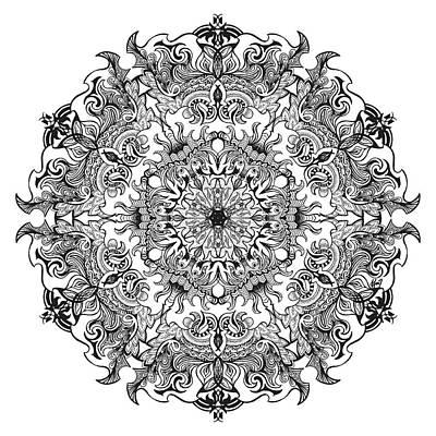 Enchanted Mandala Original by Beltolls Art