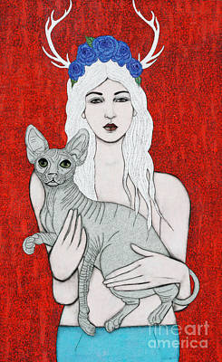Art Print featuring the mixed media Enchanted by Natalie Briney