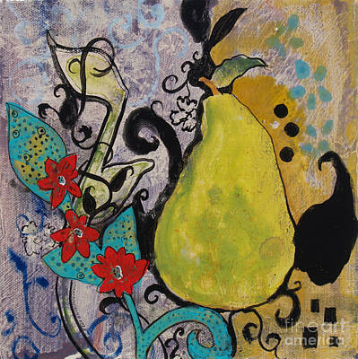 Painting - Enchanted Pear by Robin Maria Pedrero
