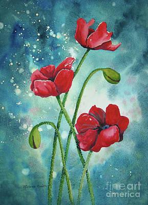 Enchanted Poppies Print by Melanie Pruitt