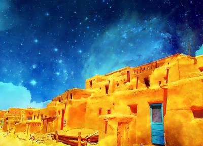 Mixed Media - Enchanted Pueblo by Michelle Dallocchio