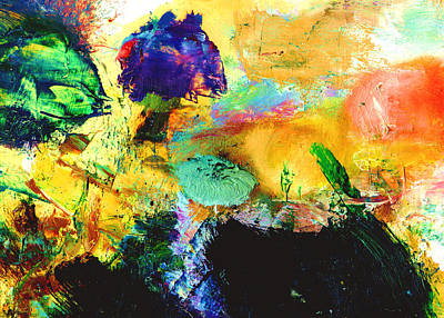 Enchanted Reef #306 Art Print by Donald k Hall