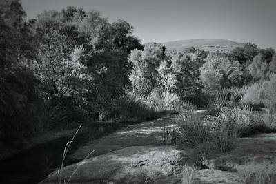 Photograph - Enchanted Rock In Black And White by Nadalyn Larsen