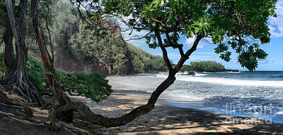 Photograph - Enchanted Rocks Koki Beach Haneoo Hana Maui Hawaii by Sharon Mau