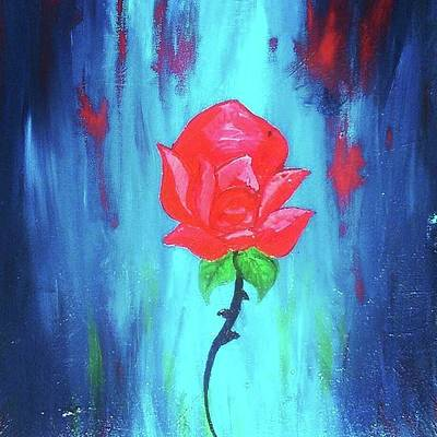 Painting - Enchanted Rose  by Jennah Lenae
