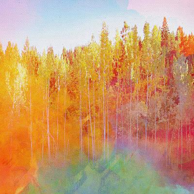 Art Print featuring the digital art Enchanted Scenery #3 by Klara Acel