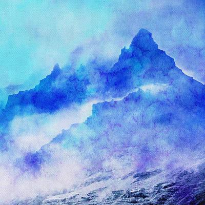 Art Print featuring the digital art Enchanted Scenery #4 by Klara Acel
