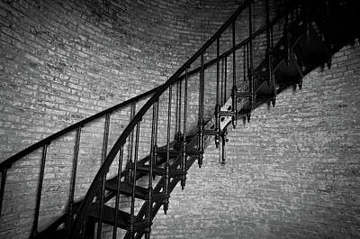 Photograph - Enchanted Staircase II - Currituck Lighthouse by David Sutton
