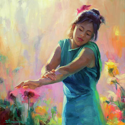 Abstract Landscape Painting - Enchanted by Steve Henderson