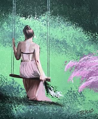 Mixed Media - Enchanted Swing by Diana Riukas
