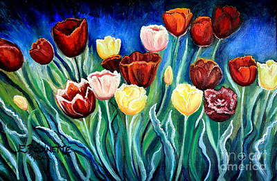 Painting - Enchanted Tulips by Elizabeth Robinette Tyndall