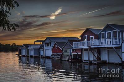 Photograph - Enchanting Boathouse Sunset by Joann Long