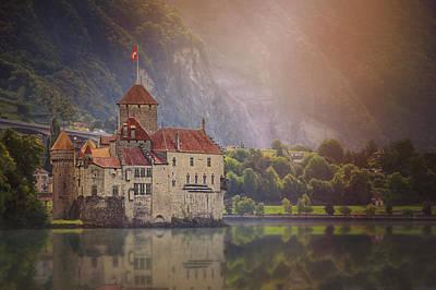 Enchanting Chateau De Chillon Montreux Switzerland  Art Print