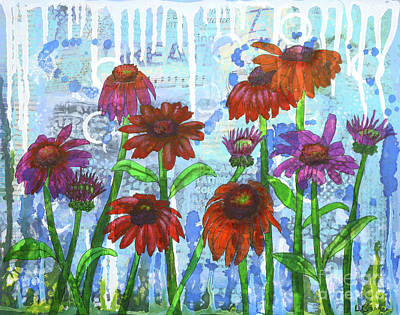 Painting - Enchanting Echinacea by Lisa Crisman