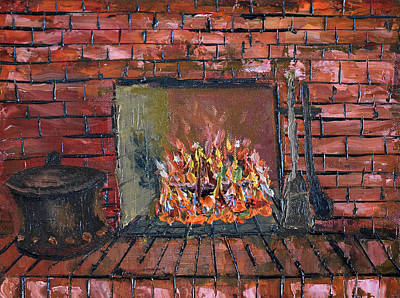Painting - Enchanting Fire by Michael Daniels