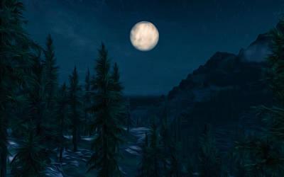 Digital Art - Enchanting Night by Andrea Mazzocchetti