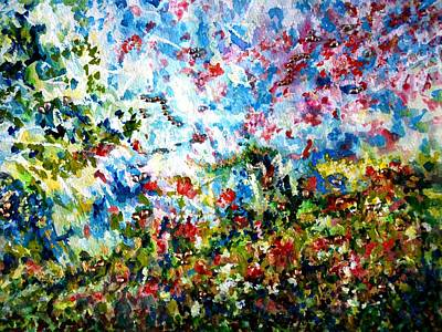 Painting - Enchanting Spring - Abstract by Harsh Malik