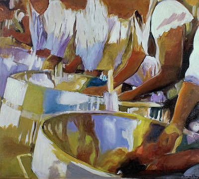 Caribbean Abstract Painting - Enchanting Steel Pan by Sandra Dopson