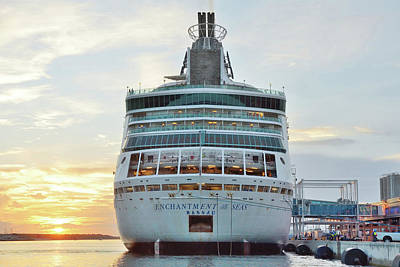 Photograph - Enchantment Of The Seas At Sunrise by Bradford Martin