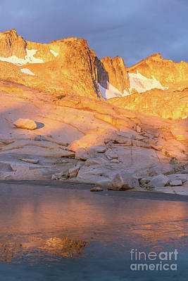 Photograph - Enchantment Peaks Golden Light And Ice by Mike Reid
