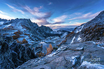 Photograph - Enchantments Crystal Lake Winter Landscape by Mike Reid