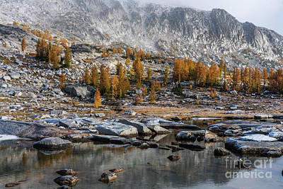 Photograph - Enchantments Fall Colors Landscape by Mike Reid