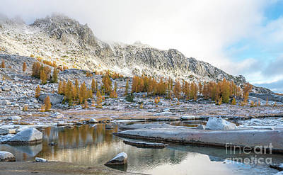Photograph - Enchantments Fall Colors Serenity by Mike Reid