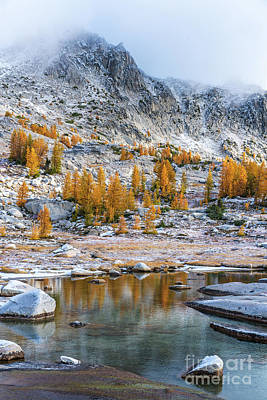 Photograph - Enchantments Fall Colors Splendor by Mike Reid