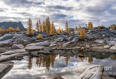 Photograph - Enchantments Larches And Granite Landscape by Mike Reid