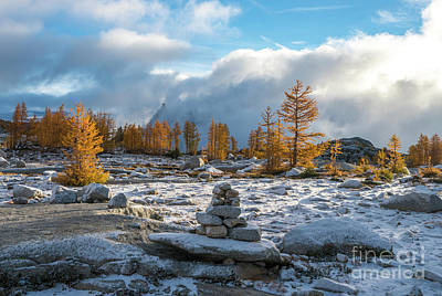 Photograph - Enchantments Light Snow by Mike Reid