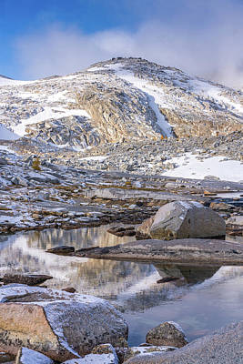 Photograph - Enchantments Little Annapurna Tarn Reflection by Mike Reid