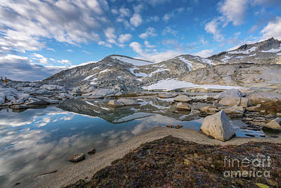 Photograph - Enchantments Peaks Reflection Cloudscape by Mike Reid