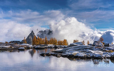 Photograph - Enchantments Prusik Peak Cloudstorm by Mike Reid