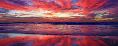 Photograph - Encinitas Energy Afterglow by John F Tsumas
