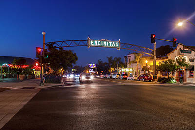 Beach Towns Photograph - Encinitas Twilight by Sean Davey