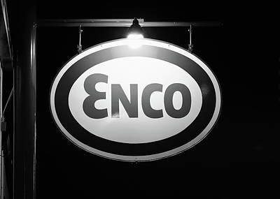 Photograph - Enco Oil B W 031518 by Rospotte Photography