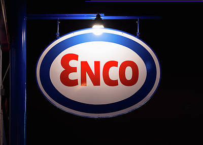 Photograph - Enco Oil Sign 031518 by Rospotte Photography