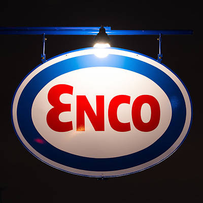 Photograph - Enco Vintage Sign Sq by Rospotte Photography