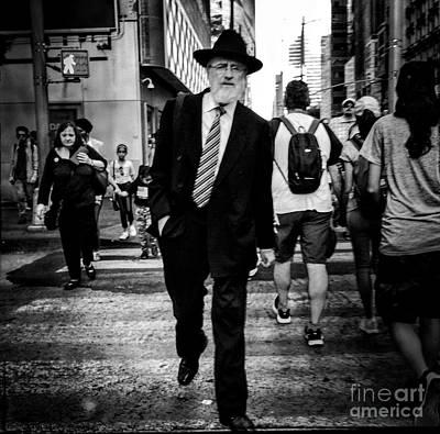 Photograph - Encounter - A Walk In The City by Miriam Danar