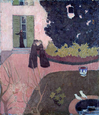 Building Painting - Encounter by Maurice Denis
