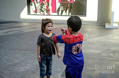 Photograph - Encounter With Spiderman by Michelle Meenawong